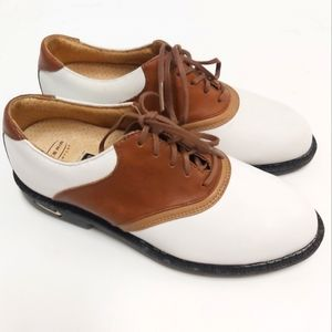 Nike Bella Last Brown White Contrast Golf Shoes 5